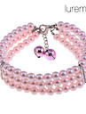 Dog Necklaces Spring/Fall - Pink - Wedding - Mixed Material