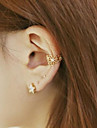 Earring Flower Ear Cuffs Jewelry Wedding / Party / Daily / Casual Alloy Gold / Silver / Pink