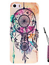 kleuring dreamcatcher patroon harde case& touch pen voor iPhone 4 / 4s