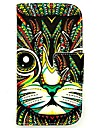 For Samsung Galaxy Case Wallet / Card Holder / with Stand / Flip / Pattern Case Full Body Case Cat PU Leather Samsung Ace 4