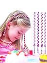6Pcs 24cm Violet Children\'s Curly Hair Rope