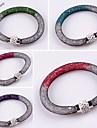dobles cuentas de cristal de color de diamantes de imitacion calientes malla de red broche magnetico brazalete de la pulsera
