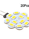 3W G4 LED Bi-pin Lights 12 SMD 5630 270 lm Warm White / Cool White DC 12 V 20 pcs