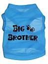 katten / honden T-shirt Blauw Hondenkleding Lente/Herfst Letter & Nummer