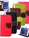 Pour Samsung Galaxy Coque Portefeuille Porte Carte Avec Support Clapet Coque Coque Integrale Coque Couleur Pleine Cuir PU pour Samsung