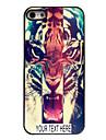 capa de metal personalizado para iPhone 5 / 5s tigre
