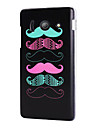 Six Cute Moustache Hard Plastic Case Cover for Huawei Ascend Y300
