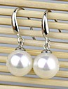 Earring Jewelry Wedding / Party / Daily Sterling Silver White