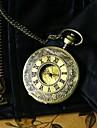 Men Steampunk Bronze Pocket Watch Vintage Big Roman Number Fashion Quartz Fob Watch Necklace Watch Cool Watch Unique Watch