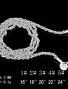 Ожерелье Ожерелья-цепочки Бижутерия Для вечеринок / Повседневные Мода Стерлинговое серебро Серебряный 1шт Подарок