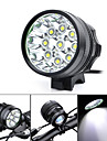 Marsing 5500lm 9xCree XM-L T6 LED 3-Modes Cool White Bike Light / Headlamp - Black (6 x 18650)