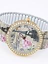 Mulheres Relogio de Moda Bracele Relogio Relogio Casual Quartzo Lega Banda Torre Eiffel Cores Multiplas Cinzento