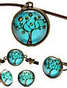 Fashion Peace Tree Shape(Includes Necklace&Earrings&Bracelet&Ring)Jewelry Set