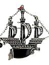 moda europea vela vendimia broche de la aleacion buque