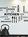 parede adesivos de parede decalques, cozinha palavras inglesas&cita parede pvc adesivos