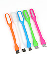 10pcs 1.2W USB portatil USB LED flexible de luz accionado llevo la lampara para portatiles Laptops (color al azar)