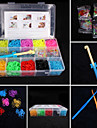 Loom Bands Small Size Multicolor Rubber Bands For Kids (2000Pcs,Random Color)