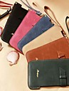 Sewing Thread Wrist Strap PU Leather Cover with Stand for iPhone 6 Case (Assorted Color)