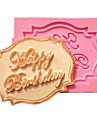 feliz cupcake do aniversario moldes do bolo cartao de fondant de chocolate para a decoracao do molde do cozimento da cozinha para doces de