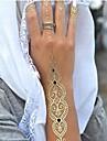 Временные, длинные, золотистые татуировки, 1 шт.