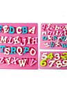 FOUR-C Silicone Cupcake Molds Number Fondant Moulds,Fondant Decorating Tools Supplies Color Pink 3PCS/Set