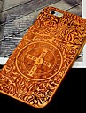 Cherry Wood John Constantine Exorcism the Cross Carving Concavo Convex Hard Back Cover for iPhone 6