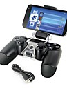 Smart Phone Mount Bracket Storage Holder + Charging cable for PS4 Controller Gamepad