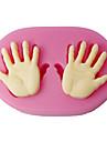 quatre mains c moules a gateau fondant de petit gateau de bebe top outils de decoration decoration de gateau, fournitures fondantes couleur rose