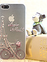 Pour Coque iPhone 5 Strass / Transparente Coque Coque Arriere Coque Tour Eiffel Dur Polycarbonate iPhone SE/5s/5
