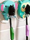 madera animal de la historieta cepillo de dientes titular de succion bano linda de la taza fija ganchos