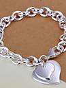Fashion Double Heart 925 Silver Charm Bracelets  1pc Jewelry Christmas Gifts