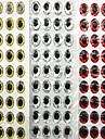500 штук Мягкие приманки / Рыболовная приманка Мягкие приманки Серебро / красный / Золотой тигр 0.083 г/<1/18 Унция mm дюймовый,Полиэтилен