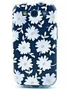 White Flowers Pattern TPU Soft Cover for Samsung Galaxy S3 I9300