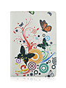 9.7 Inch 360 Degree Rotation Butterly Pattern with Stand Case and Pen for iPad Air 2/iPad 6