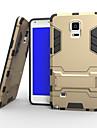 Назначение Samsung Galaxy Note Чехлы панели Защита от удара со стендом Задняя крышка Кейс для броня Твердый PC для Samsung Note 4