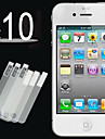 10pcs hd klar foran skjermen film for iPhone 4 / 4S