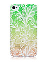 Colorful Lace Flowers Pattern TPU Soft Back Cover Case for iPhone 4/4S