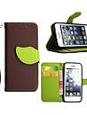 support de haute qualite de carte de portefeuille cas PU cuir flip couverture pour iphone 5c (couleurs assorties)