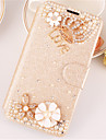 For Samsung Galaxy Case Rhinestone / with Stand / Flip / Magnetic Case Full Body Case Flower PU Leather SamsungA7(2016) / A5(2016) /
