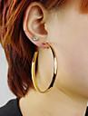 Hoop Earrings Alloy Statement Jewelry Fashion Screen Color Jewelry 2pcs