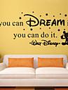 muurstickers muur stickers stijl als je het kunt dromen engels woorden&citeert pvc muurstickers