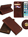 iCoverCase®Retro Genuine Cowhide Leather Flip Cover Wallet Card Slot Case Stand for iPhone 6 Plus(Assorted Colors)