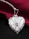Necklace Lockets Necklaces Jewelry Party / Daily Fashion Silver Plated Silver 1pc Gift