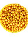beadia의 100g (약 1000PCS는) 진주 비즈 DIY 보석 결정을위한 라운드 금 노란색 컬러 플라스틱 느슨한 구슬 6mm 복근