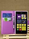 용 노키아 케이스 지갑 / 카드 홀더 / 스탠드 케이스 풀 바디 케이스 단색 하드 인조 가죽 Nokia Nokia Lumia 925