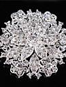 les femmes vintages strass en cristal clair diamants feuilles Broche mariage