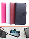 For Acer Case Card Holder / with Stand / Flip / Magnetic Case Full Body Case Solid Color Hard PU Leather for Acer