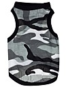 Cat Dog Shirt / T-Shirt Gray Dog Clothes Summer Camouflage Casual/Daily