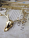 European Style Sika Deer Pendant Necklace