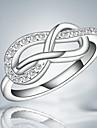 Классические кольца Кристалл Стерлинговое серебро Кисточки Мода Серебряный Бижутерия Свадьба Для вечеринок Повседневные 1шт